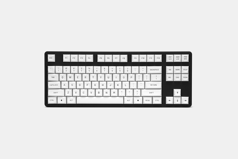 Drop MT3 Black-ON-White Keycap Set